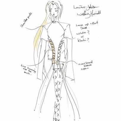The-original-sketch-for-Louisa-Johnsons-bespoke-lace-T-Shirt-dress-worn-Monday-at-The-Roundhouse-on-stage-with-cleanbandit.jpg